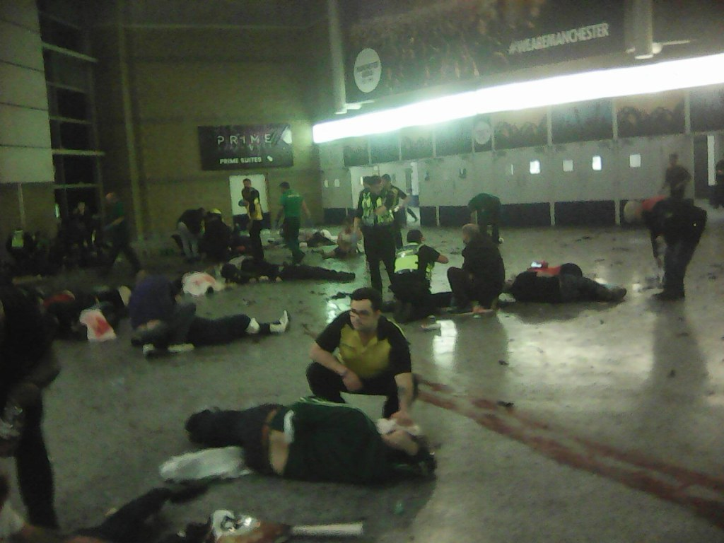 Image: Aftermath of Manchester Arena bombing