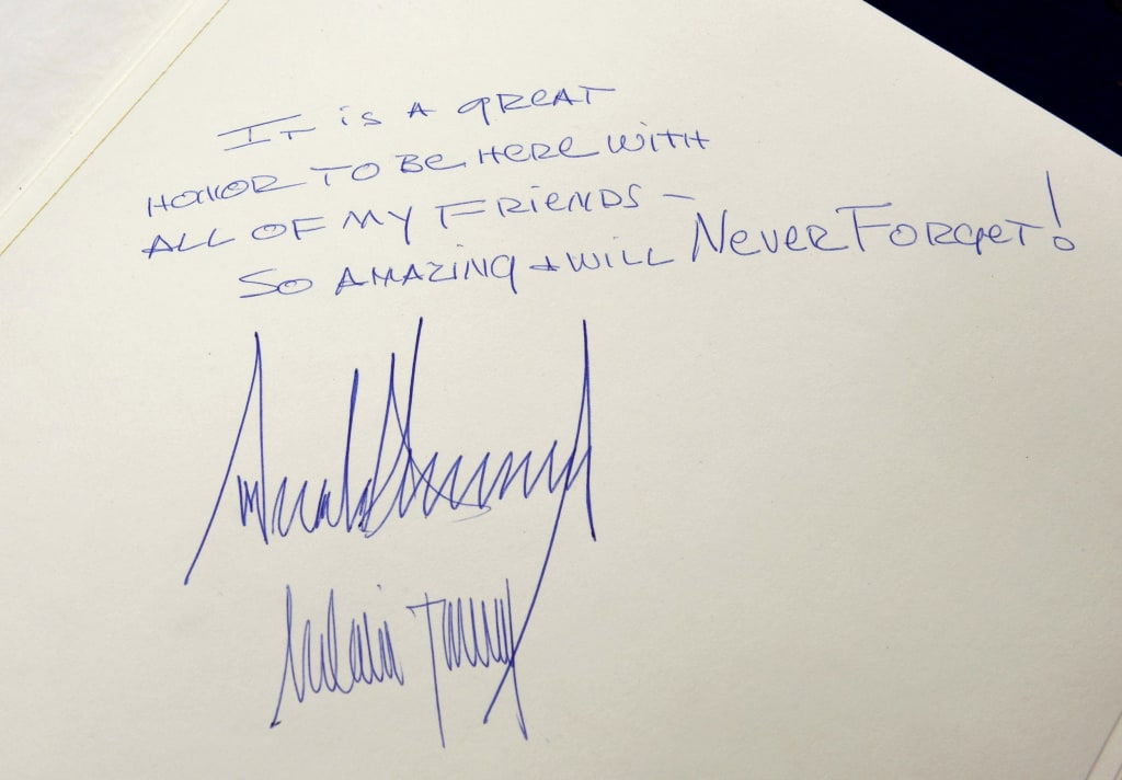 Image: The note written by Trump at the Yad Vashem Holocaust Memorial