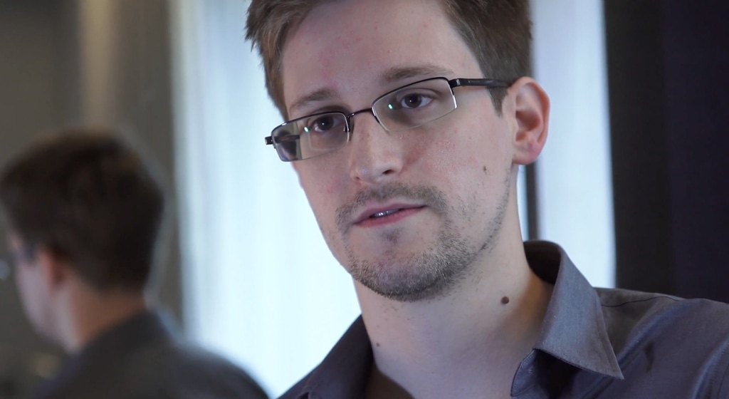 Image: Edward Snowden speaks during an interview in Hong Kong