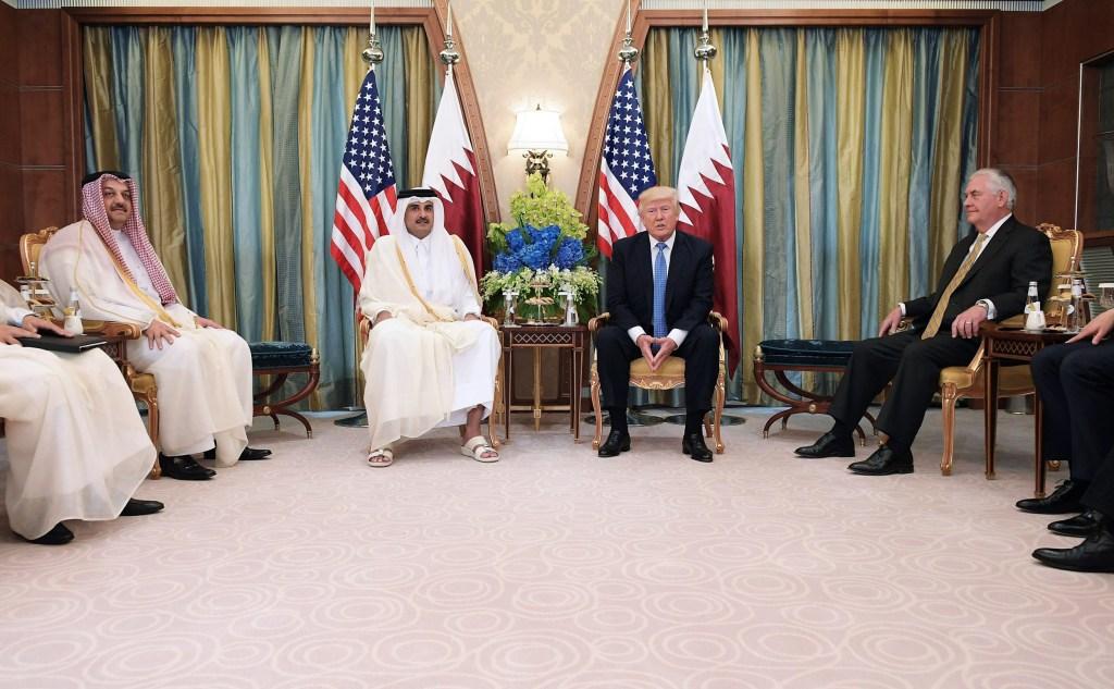 Image: Trump and Qatar's Emir Sheikh Tamim Bin Hamad Al-Thani