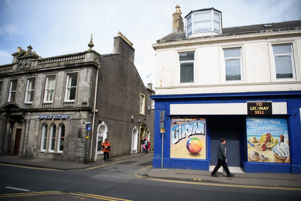 Image: The main shopping street through the town of Girvan