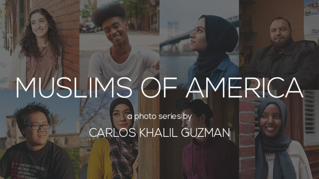 "The cover of Carlos Khalil Guzman's photo series ""Muslims in America"""