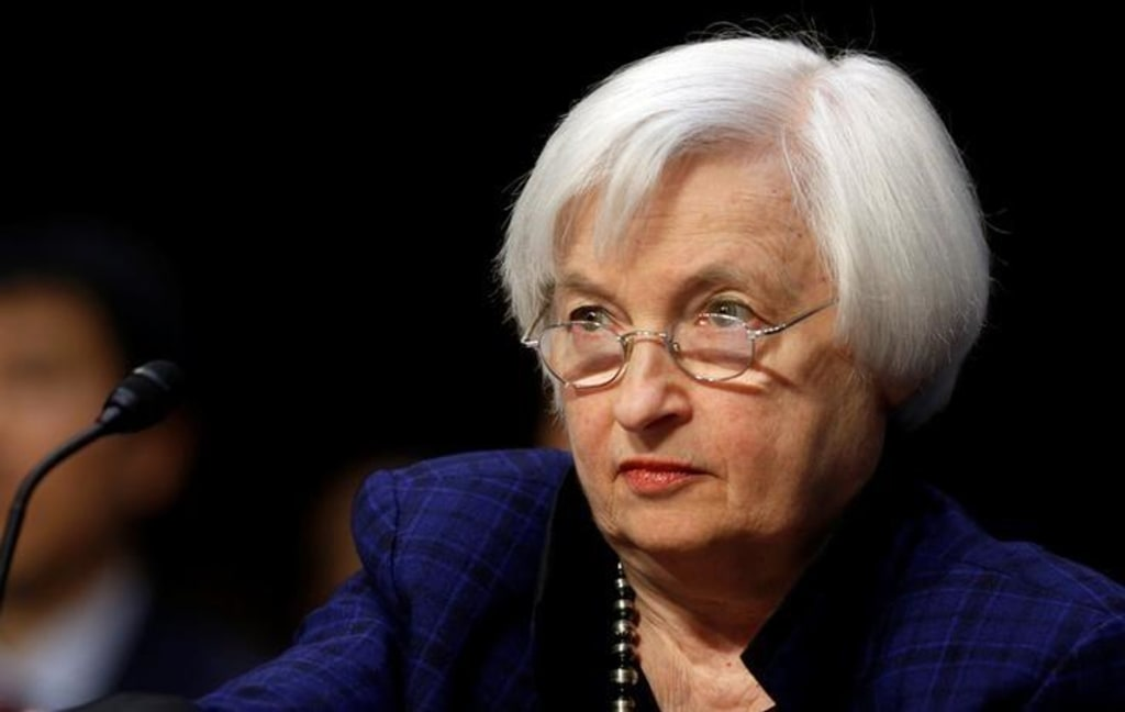 U.S. Federal Reserve Board chair Yellen testifies before a Congressional Joint Economic hearing on Capitol Hill in Washington