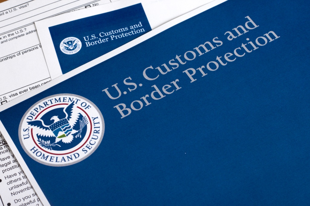 Image: Customs and Border Protection form