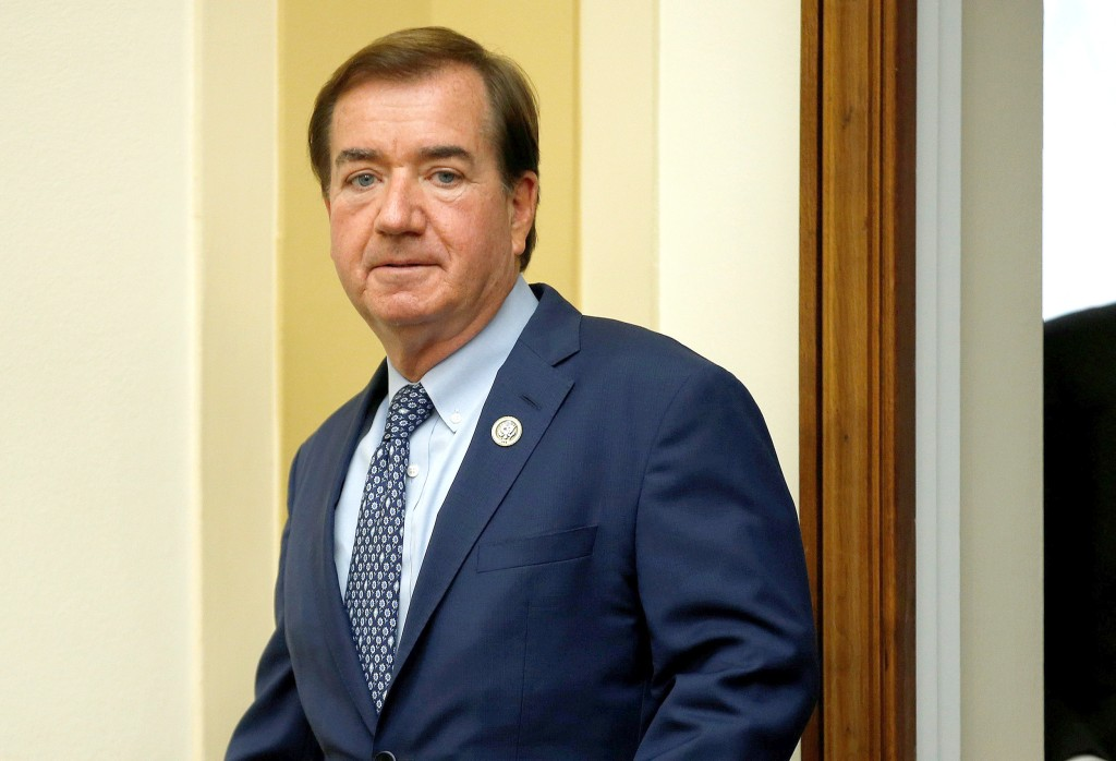 """Image: Chairman of the House Foreign Affairs Committee Ed Royce (R-CA) arrives for a hearing with U.S. Ambassador to the United Nations Nikki Haley on """"Advancing U.S. Interests at the United Nations"""" in Washington"""