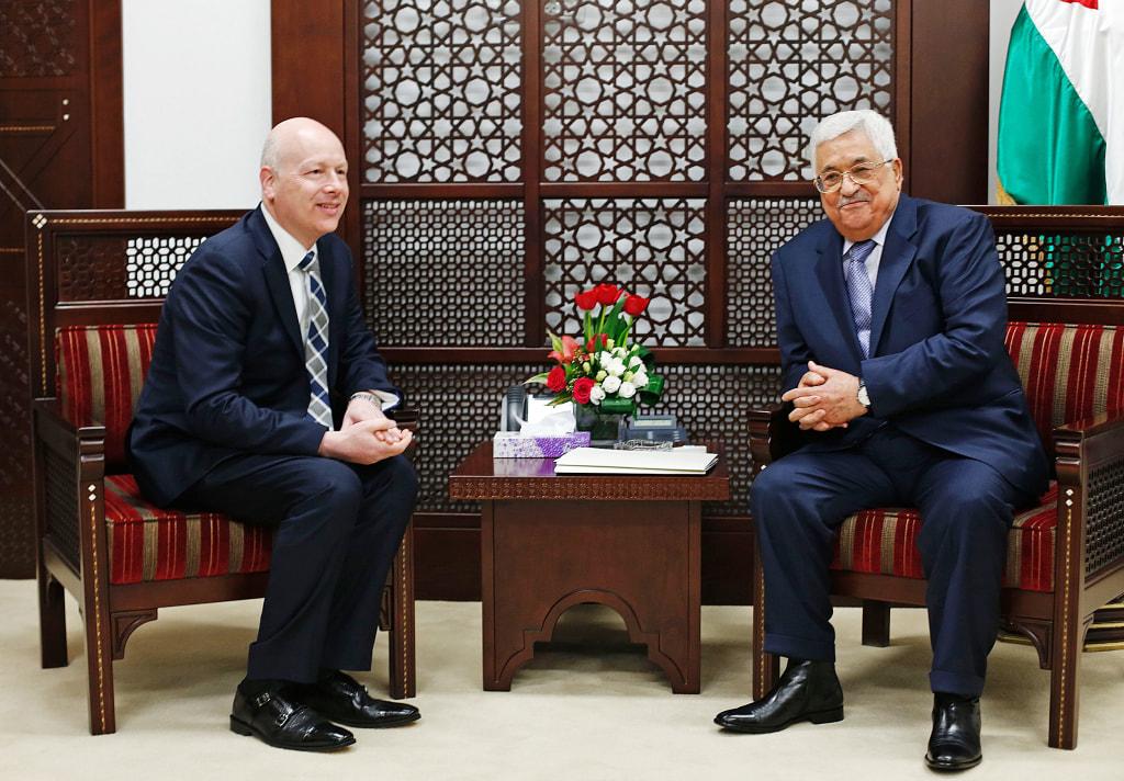 Image: Mahmoud Abbas meets with Jason Greenblatt