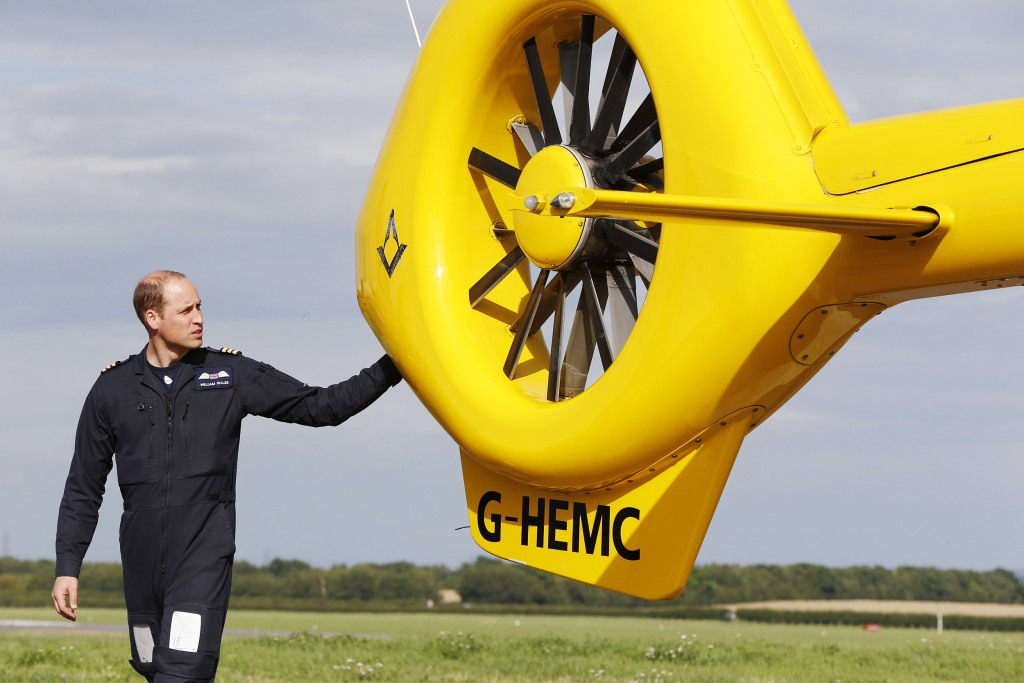 Image: Prince William, Duke of Cambridge starts his final shift with the East Anglian Air Ambulance