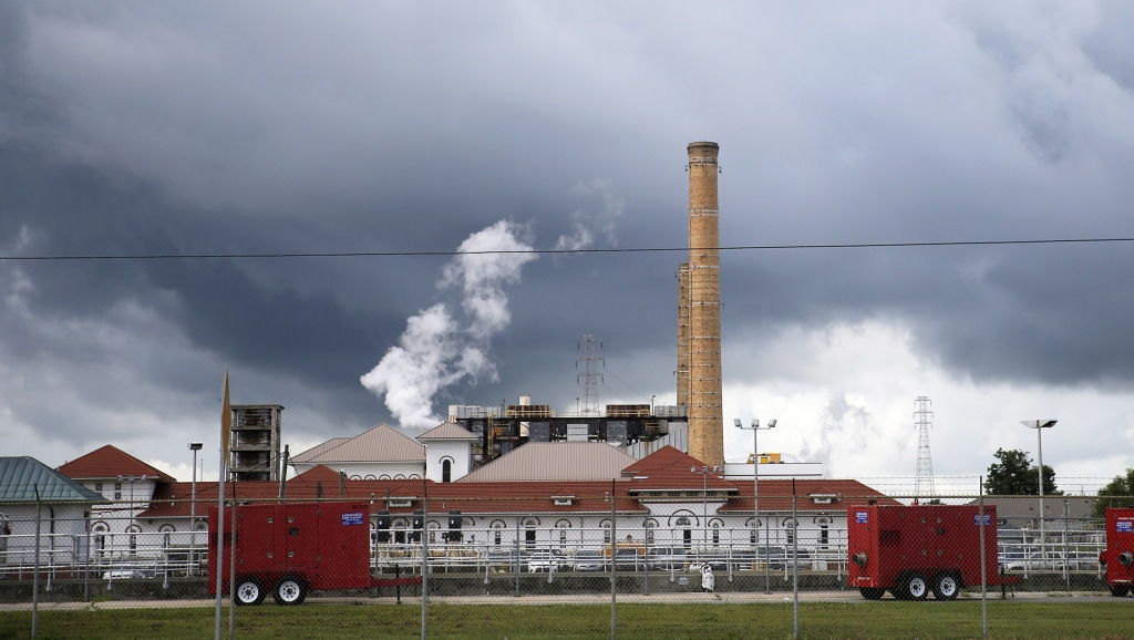 Image: Rain clouds gather over the New Orleans Sewerage & Water Board facility
