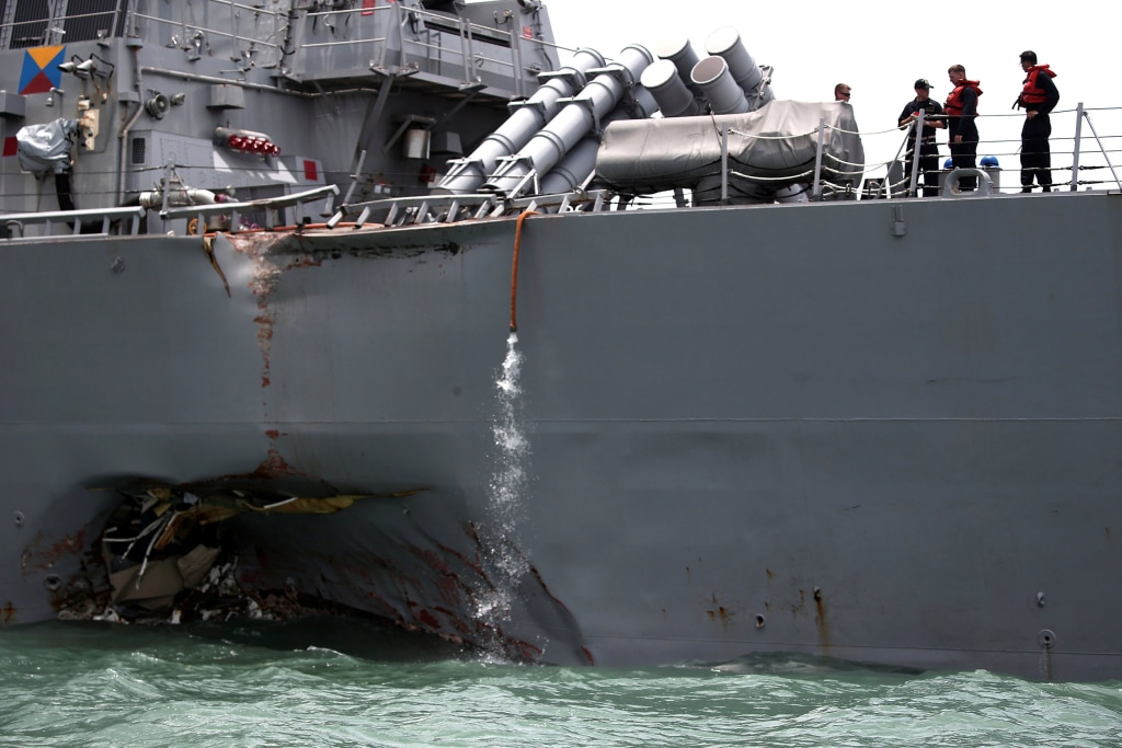 Image: The U.S. Navy guided-missile destroyer USS John S. McCain