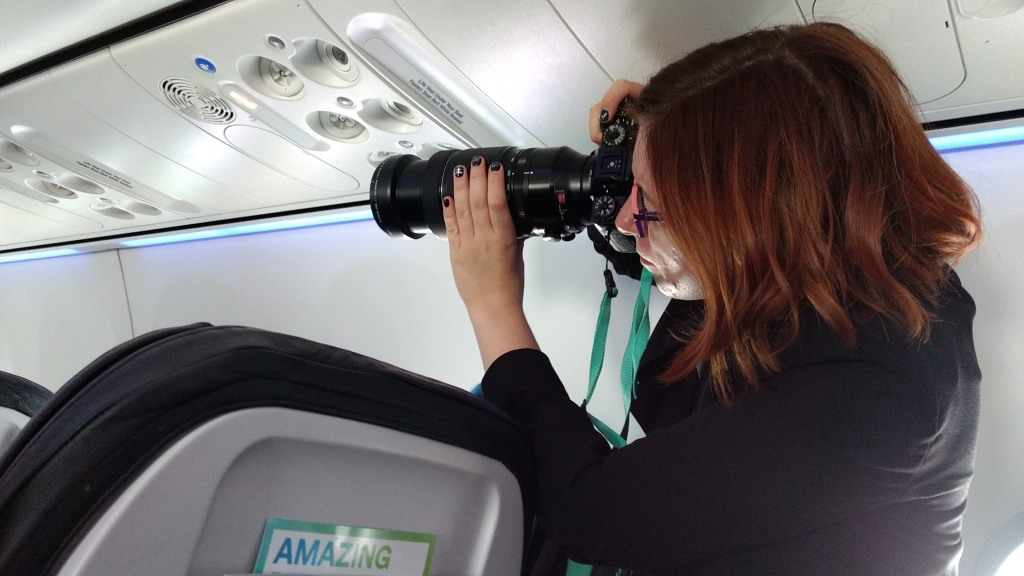 IMAGE: Tanya Harrison aboard the eclipse flight