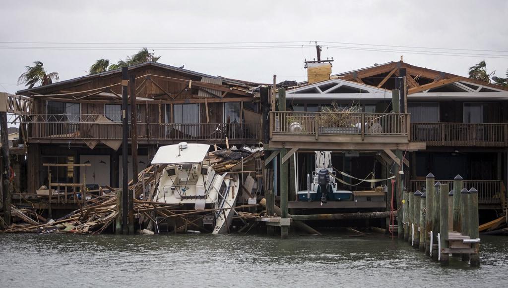 Image: Stranded boat in Port Aransas