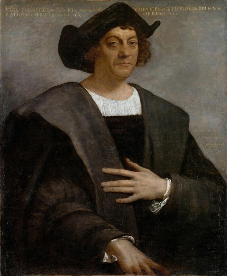 Image: Portrait of Christopher Columbus, 1519