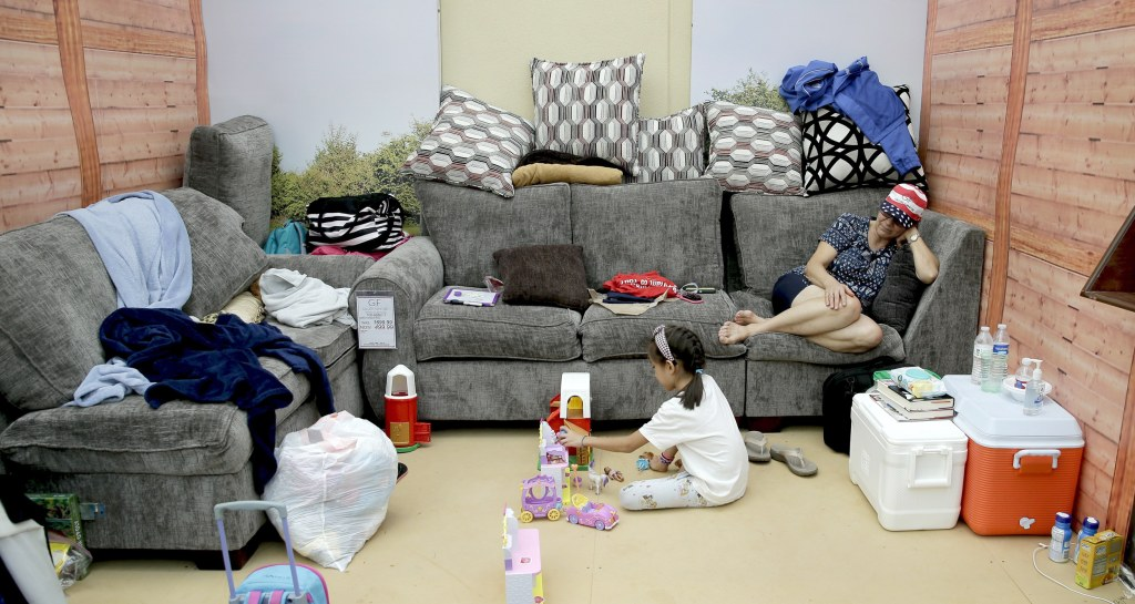 Displaced families find shelter at local furniture stores for C furniture warehouse