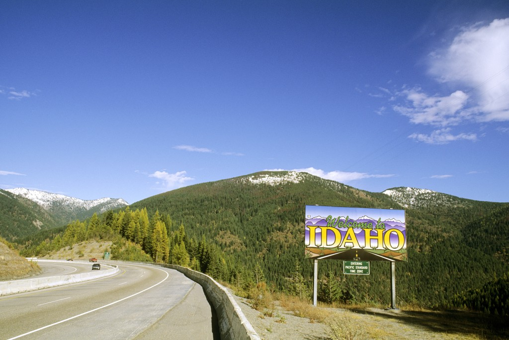 Image: Welcome To Idaho Sign.