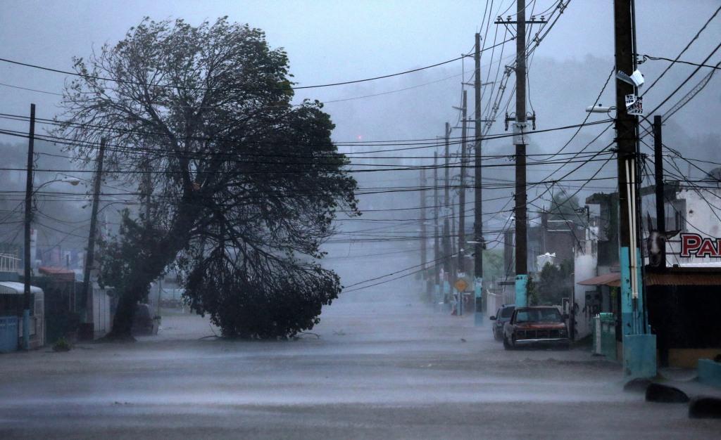 Image: A street is flooded as Hurricane Irma passes through Fajardo, Puerto Rico