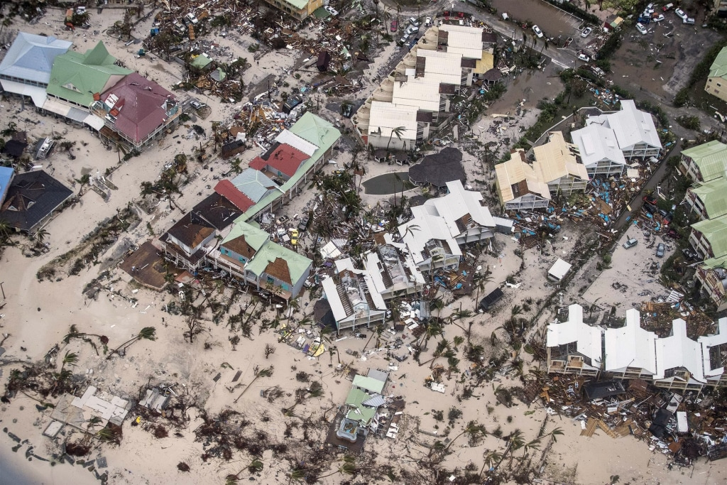 Image: Homes are damaged after Hurricane Irma struck in Philipsburg, Saint Martin