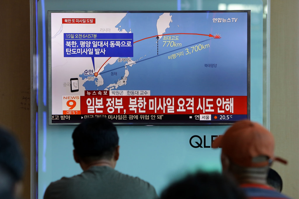 Image: North Korea Fires Ballistic Missile Over Japan