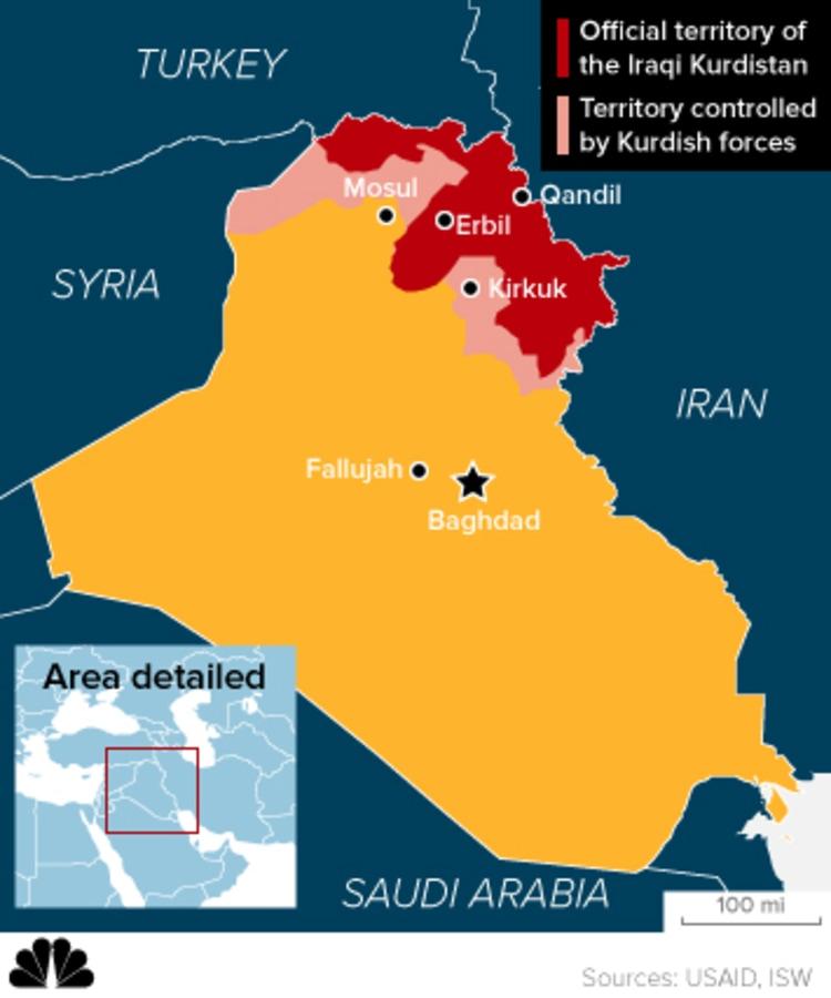 Image: Map of Iraqi Kurdistan