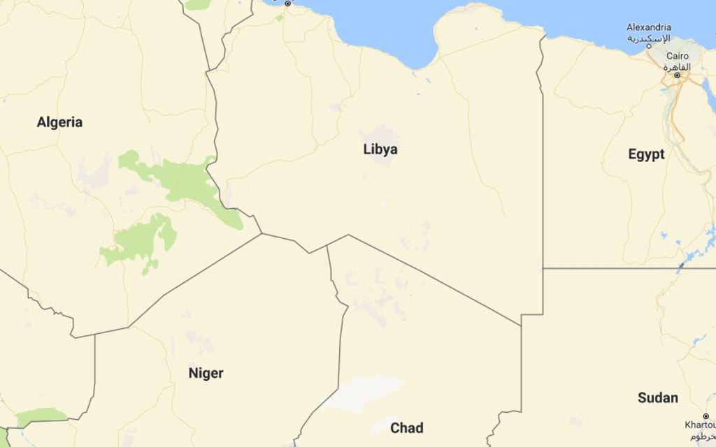 Image: A map of Libya