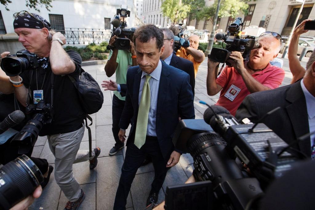 Image: Former U.S. Congressman Anthony Weiner arrives at U.S. Federal Court for sentencing