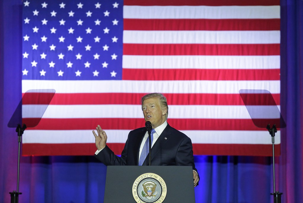 Image: President Trump Speaks On Tax Reform At The Indiana State Fairgrounds And Event Center