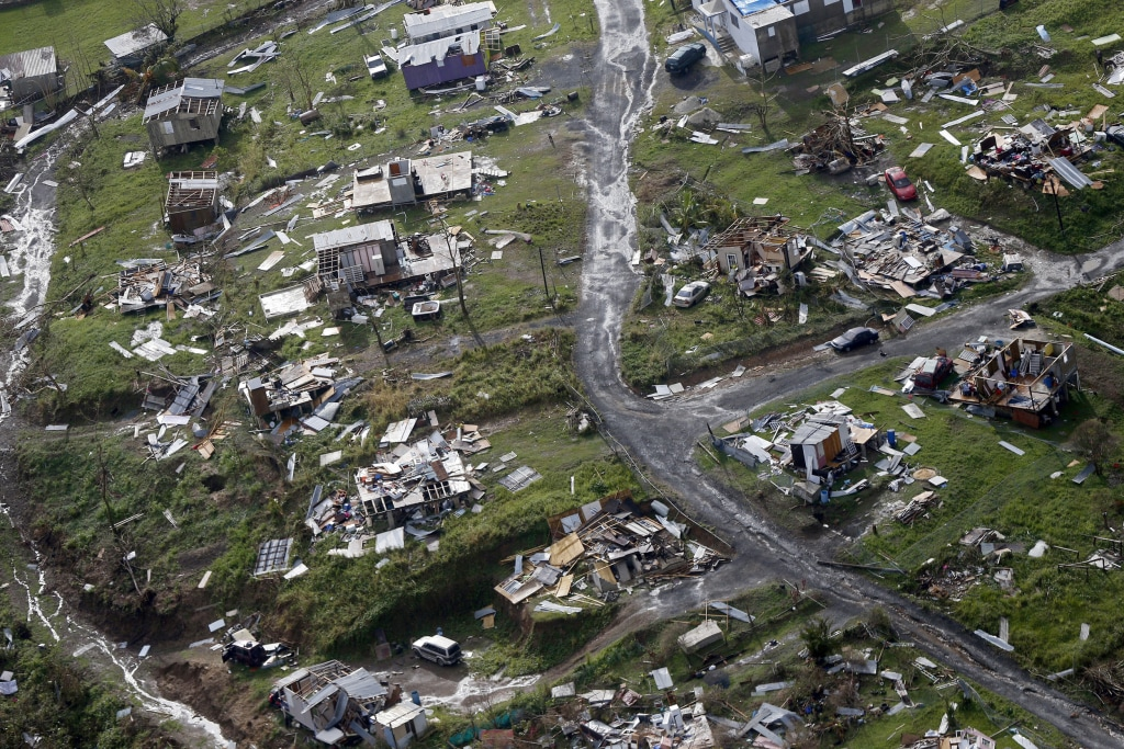 Image: Destroyed communities are seen in the aftermath of Hurricane Maria in Toa Alta, Puerto Rico, Sept. 28, 2017.