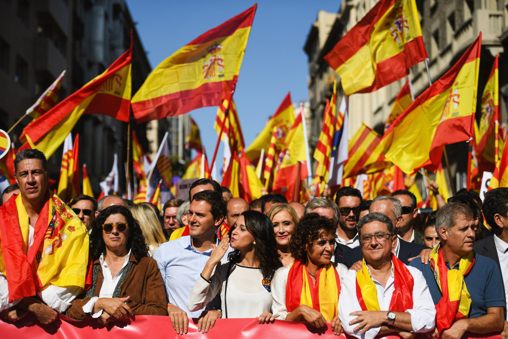 Image: Pro-Unity Rally Held In Barcelona Against Catalonian Independence