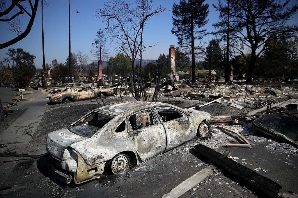 Image: Multiple Wildfires Continue To Ravage California Wine Country