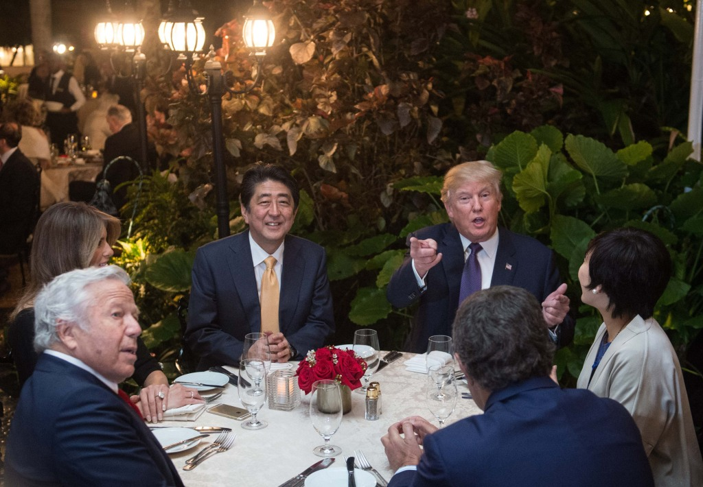 Image: Donald Trump and Shinzo Abe at Mar-a-Lago