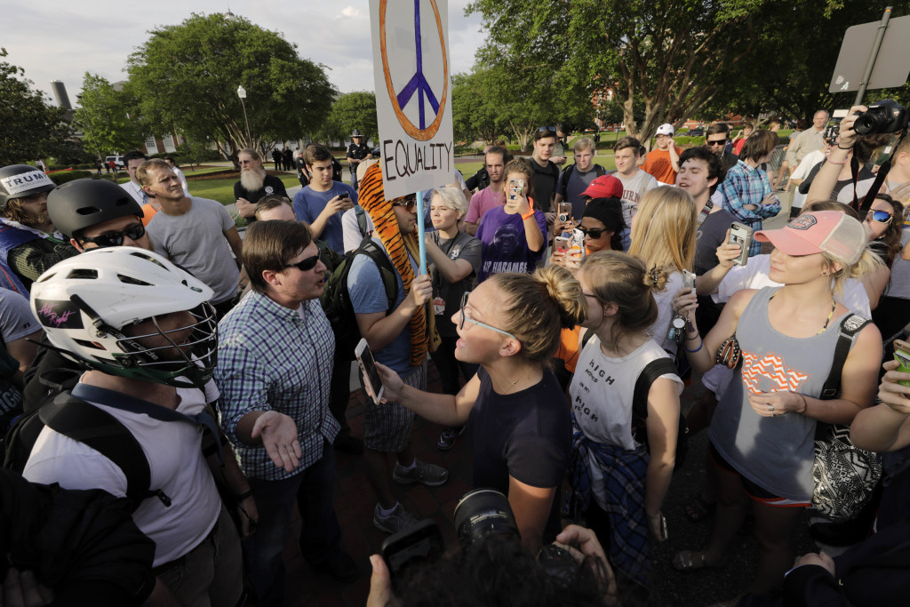Image: Anti-Richard Spencer protest at Auburn University