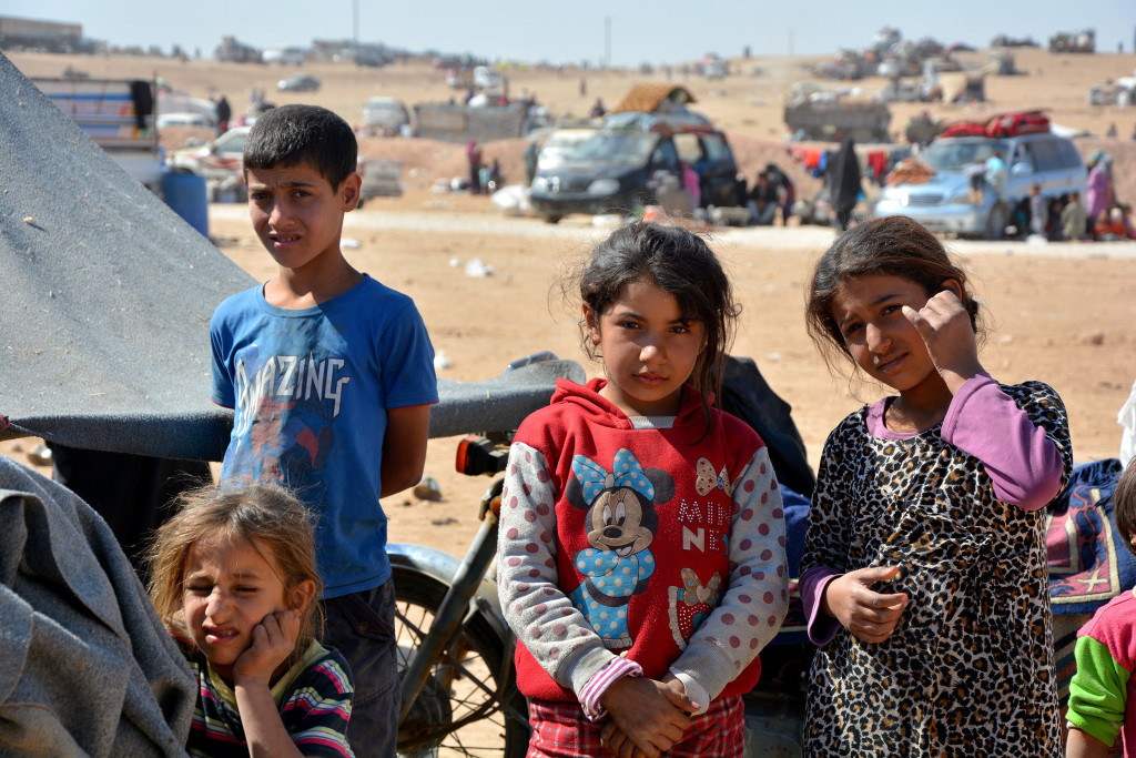 Image: Displaced Syrian children