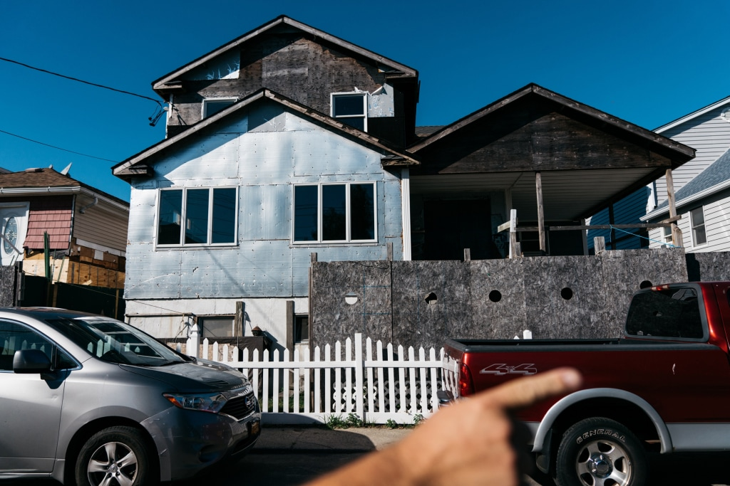 Image: One of the many homes in Broad Channel, Queens, that remain unrepaired after Hurricane Sandy.