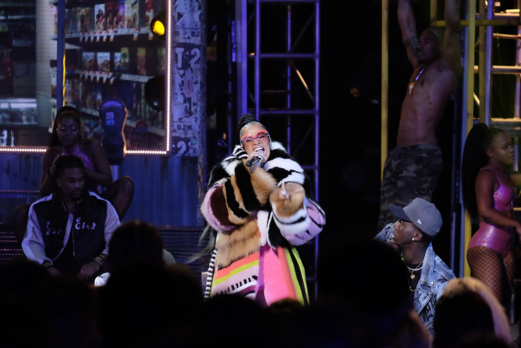 Image: Cardi B performs during the BET Hip Hop Awards 2017 at The Fillmore Miami Beach at the Jackie Gleason Theatre on Oct. 6, 2017 in Miami Beach, Florida.
