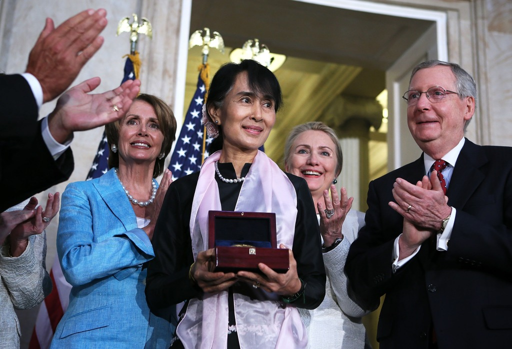 Image: Aung San Suu Kyi Receives Congressional Gold Medal At Ceremony On Capitol Hill
