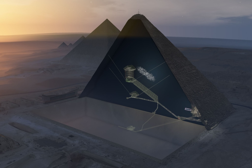 Image: Khufus Pyramid, the largest pyramid in Giza