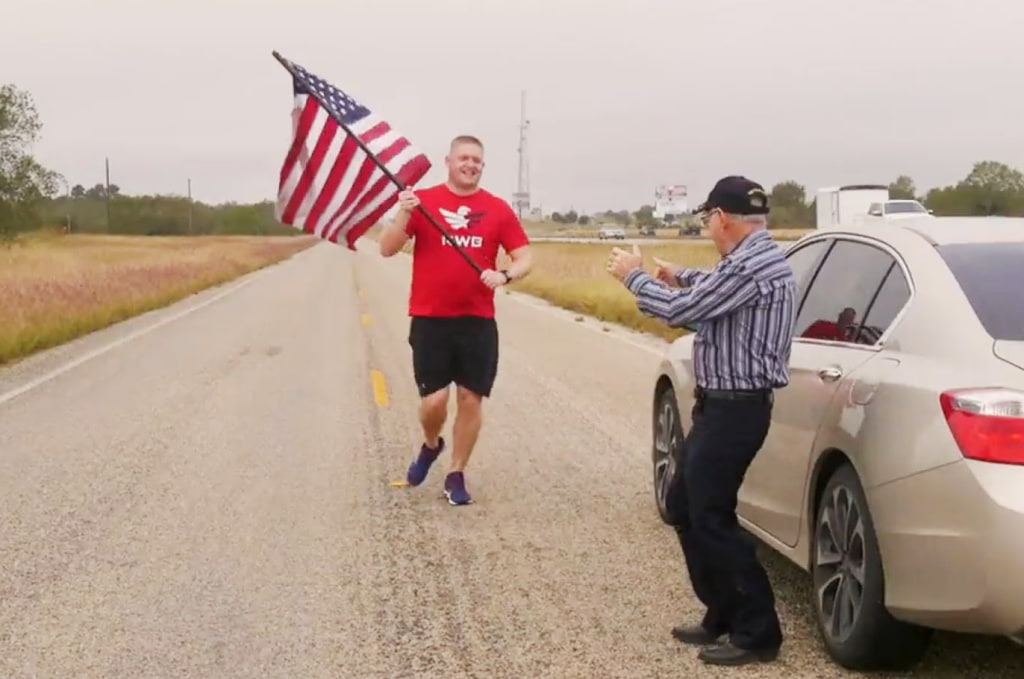 Image: the Old Glory Relay