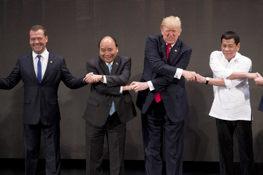 Image: Donald Trump, Rodrigo Duterte, Nguyen Xuan Phuc, Dmitry Medvedev