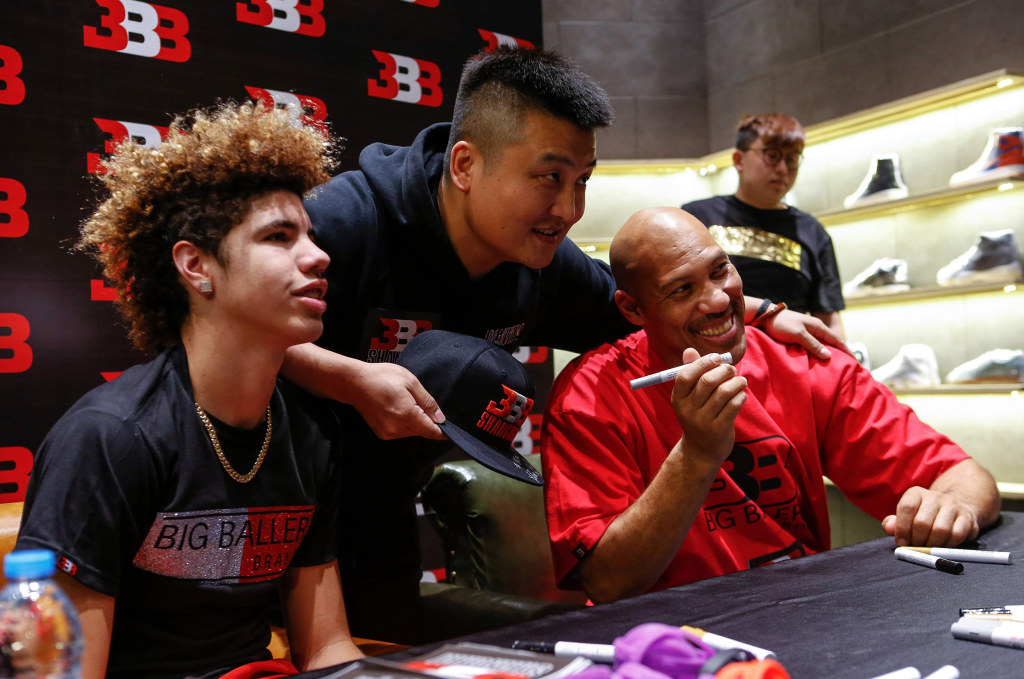 Image: LaMelo Ball and LaVar Ball