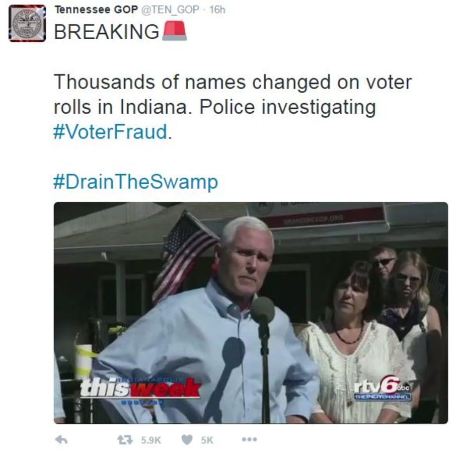 #voterfraud tweet