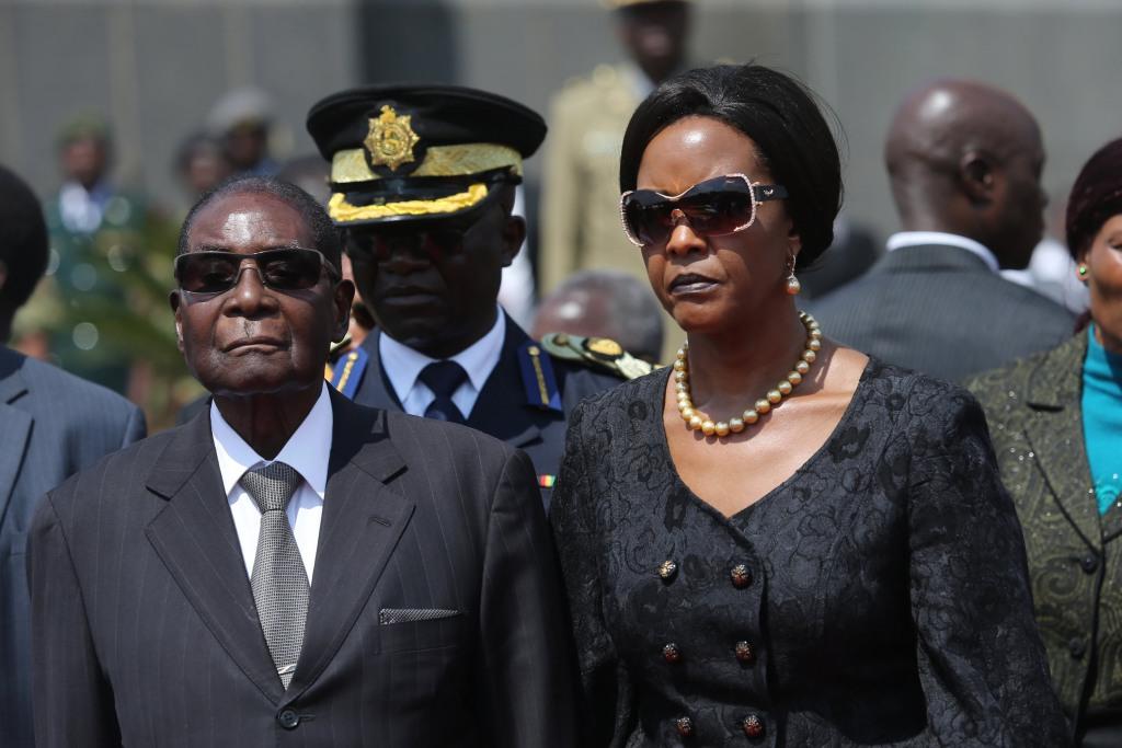 Image: Robert Mugabe and Grace Mugabe