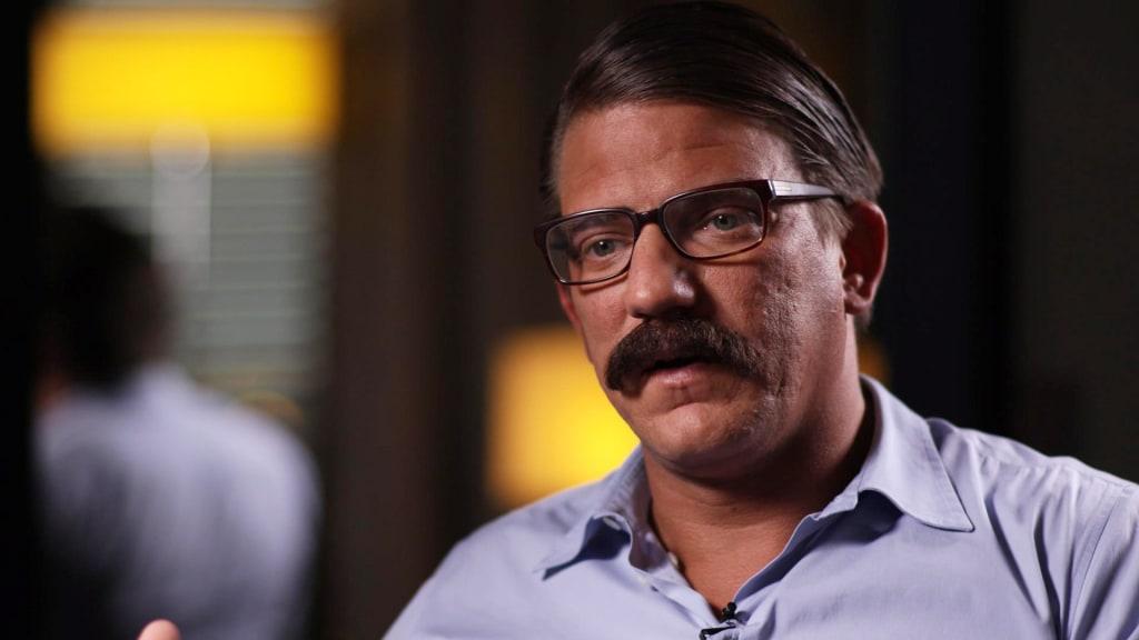 Image: Alexandre Ventura during an NBC News interview