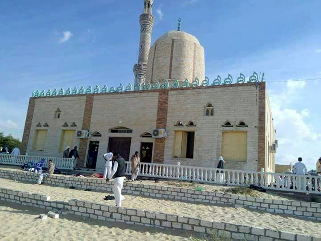 Image: Attack on Egyptian mosque