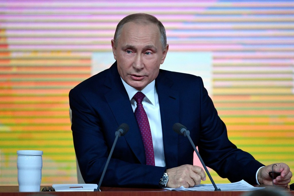 Image: Vladimir Putin said he wants a balanced political system in Russia.