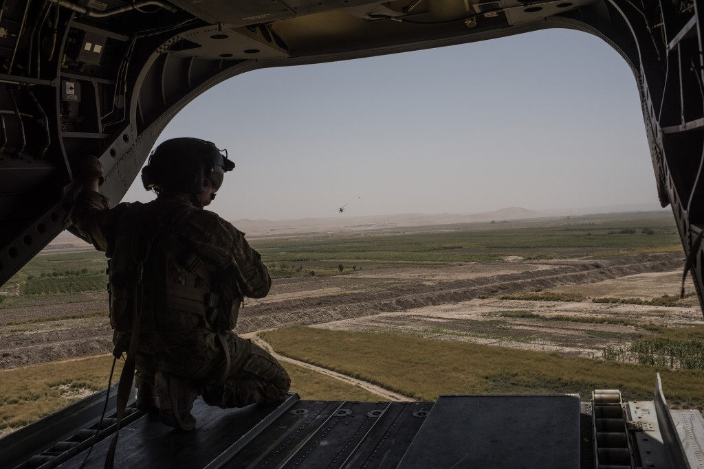 Image: A U.S. Army helicopter flies in Helmand province