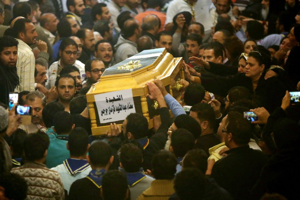 Image: At least eight killed in an attack on a church in Cairo