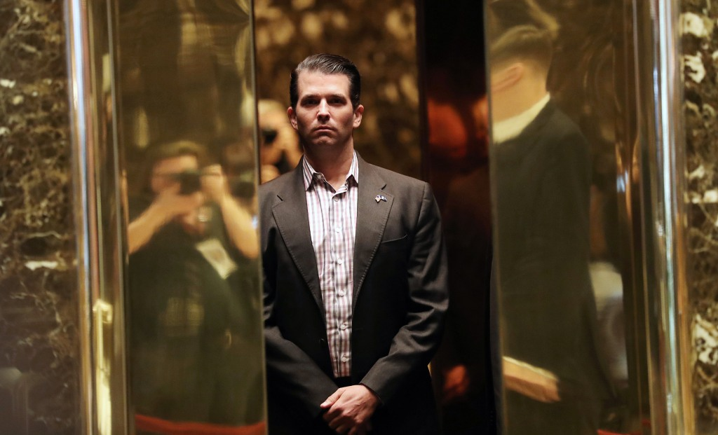 Image: Donald Trump Jr. arrives at Trump Tower