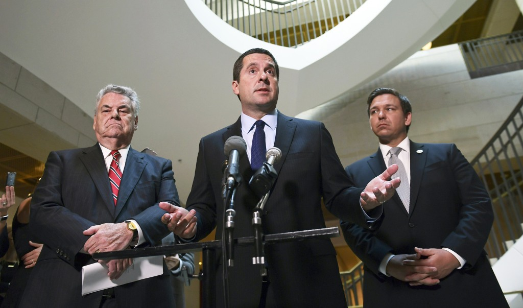 Image: Devin Nunes, Peter King and Ron DeSantis