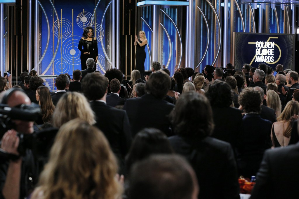 Image: Oprah Winfrey accepts the 2018 Cecil B. DeMille Award
