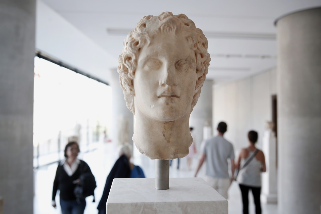 Image: An ancient marble head of Alexander the Great