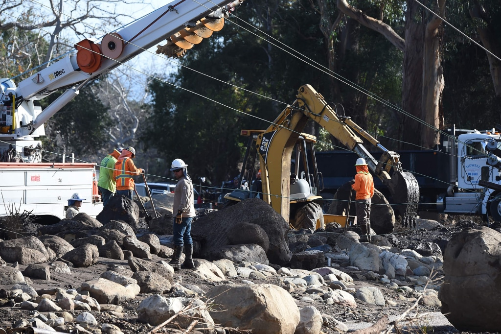 Image: Downed power lines in Montecito